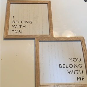 I belong with you you belong with me wall art